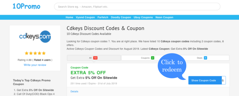 CDkeys Discount Codes & Coupons | 60% OFF | Sep 2019