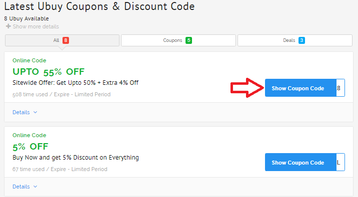 how to apply coupon code on ubuy step 2