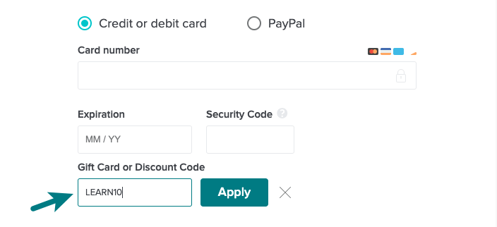 how to apply coupon code on skillshare